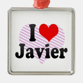 Amo a Javier Ornamento Para Arbol De Navidad