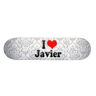 Amo a Javier Patineta Personalizada