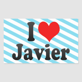 Amo a Javier Rectangular Altavoz
