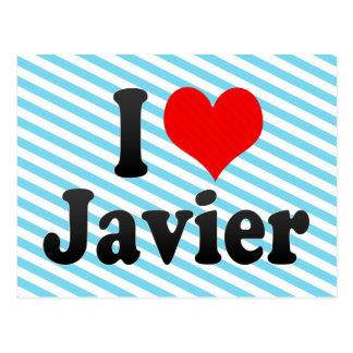 Amo a Javier Tarjeta Postal