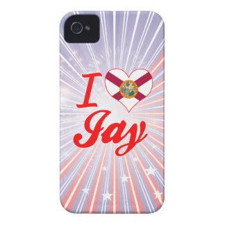 Amo a Jay la Florida Case-Mate iPhone 4 Cárcasa