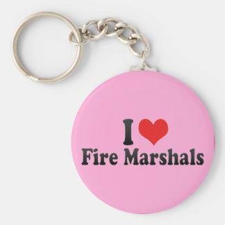 Amo a jefes de bomberos llaveros personalizados