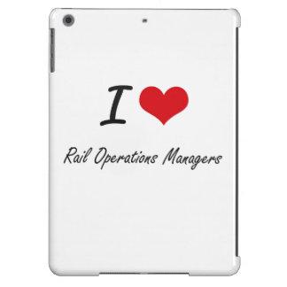 Amo a jefes de explotación del carril funda para iPad air