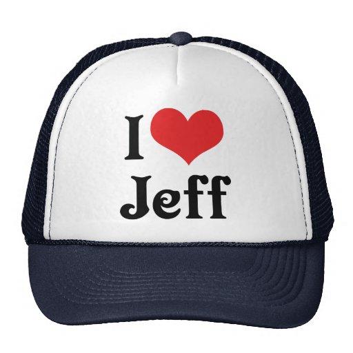Amo a Jeff Gorros Bordados