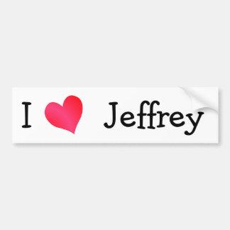 Amo a Jeffrey Etiqueta De Parachoque