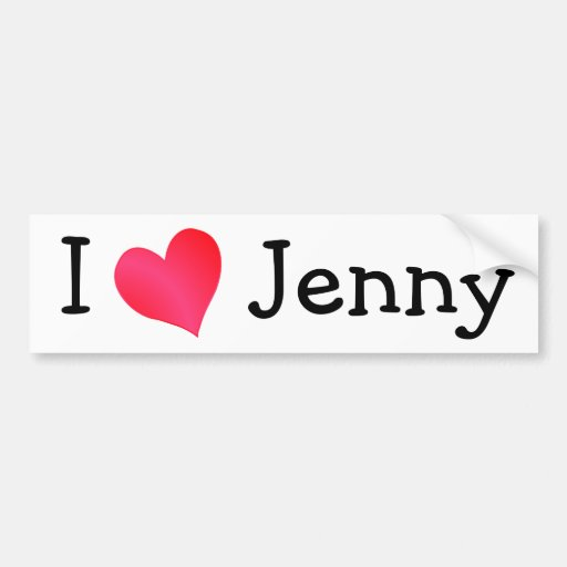 Amo a Jenny Pegatina Para Auto