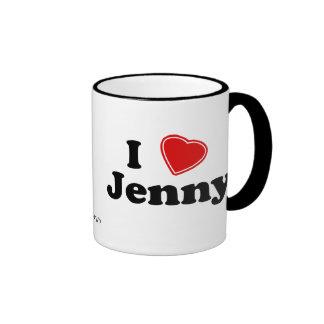Amo a Jenny Taza De Dos Colores