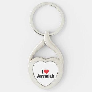Amo a Jeremiah Llavero Plateado En Forma De Corazón
