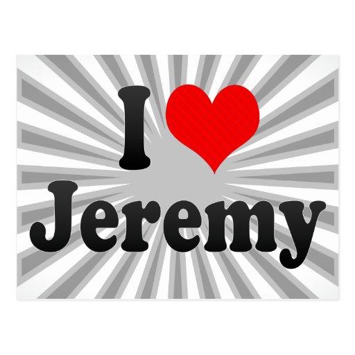 Amo a Jeremy Postales