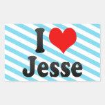 Amo a Jesse Rectangular Pegatina
