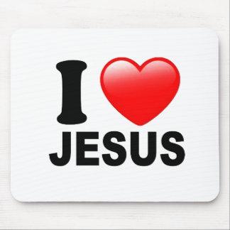 Amo a Jesús Alfombrilla De Raton
