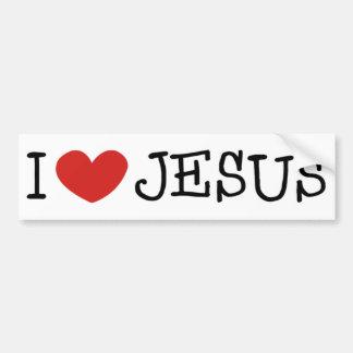 Amo a Jesús Pegatina De Parachoque
