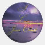 Amo a Jesús Etiquetas