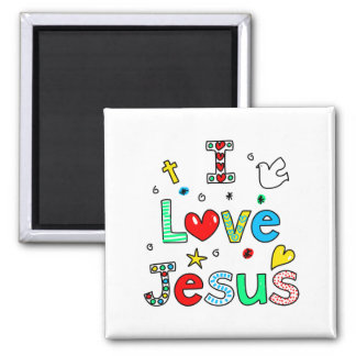 Amo a Jesús Imán Cuadrado