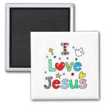 Amo a Jesús Imán De Frigorífico