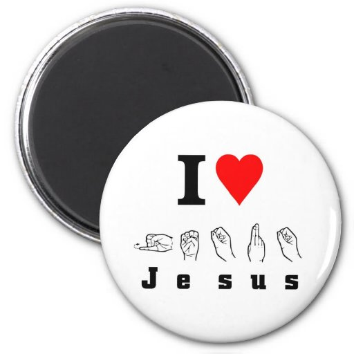 Amo a Jesús Imán De Frigorifico