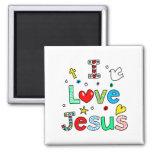 Amo a Jesús Imanes De Nevera