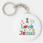Amo a Jesús Llaveros Personalizados