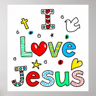 Amo a Jesús Posters