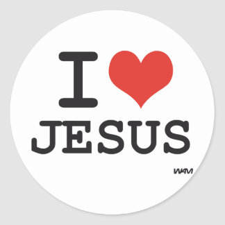 Amo a Jesús Pegatinas Redondas