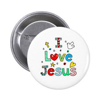 Amo a Jesús Pin Redondo De 2 Pulgadas
