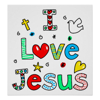 Amo a Jesús Póster