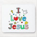 Amo a Jesús Tapetes De Ratones