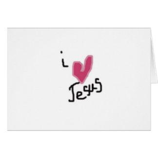Amo a Jesús Tarjeta De Felicitación