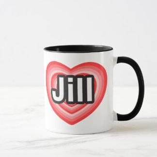 Amo a Jill. Te amo Jill. Corazón