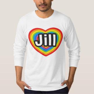 Amo a Jill. Te amo Jill. Corazón Playera