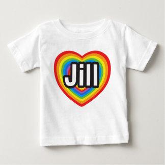 Amo a Jill. Te amo Jill. Corazón Playera De Bebé