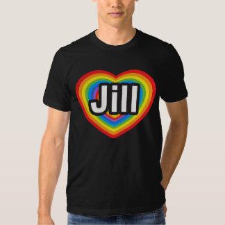 Amo a Jill. Te amo Jill. Corazón Poleras