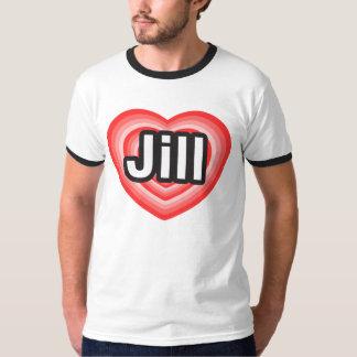 Amo a Jill. Te amo Jill. Corazón Remeras