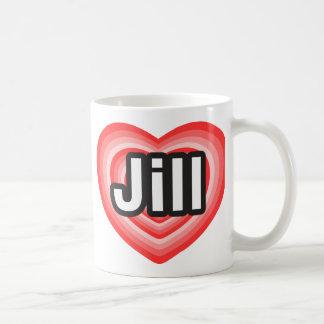 Amo a Jill. Te amo Jill. Corazón Taza Clásica