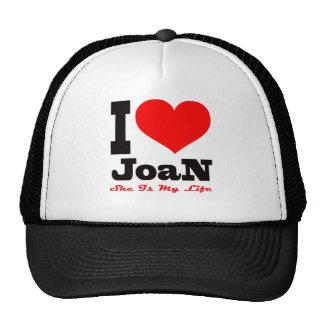 Amo a Joan. Ella es mi vida Gorros Bordados