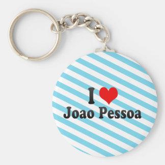 Amo a Joao Pessoa, el Brasil Llavero Redondo Tipo Pin