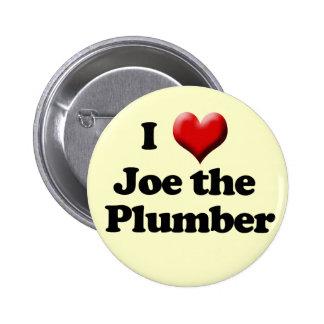 Amo a Joe el botón del fontanero Pin Redondo De 2 Pulgadas
