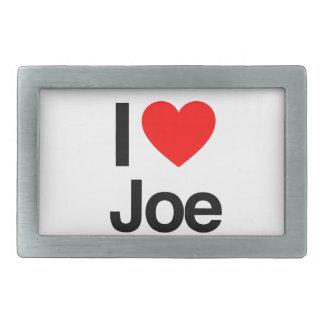 amo a Joe Hebillas Cinturon Rectangulares