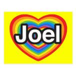 Amo a Joel. Te amo Joel. Corazón Postales