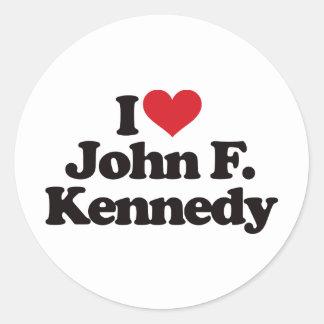 Amo a John F. Kennedy Pegatinas Redondas