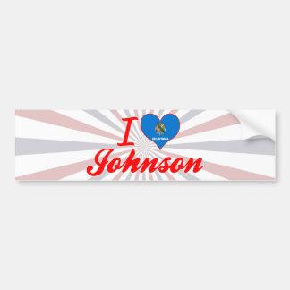 Amo a Johnson, Oklahoma Pegatina De Parachoque