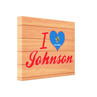 Amo a Johnson, Oklahoma Impresion En Lona