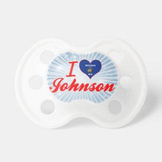 Amo a Johnson, Wisconsin Chupetes Para Bebés