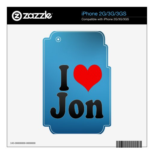 Amo a Jon Skins Para iPhone 3GS