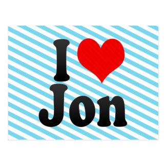 Amo a Jon Tarjetas Postales