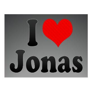 Amo a Jonas Tarjetas Postales