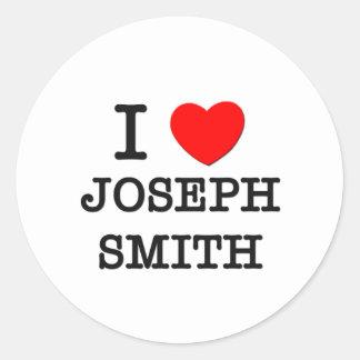 Amo a Joseph Smith Pegatinas Redondas