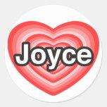 Amo a Joyce. Te amo Joyce. Corazón Etiquetas