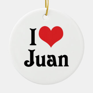 Amo a Juan Adorno Navideño Redondo De Cerámica