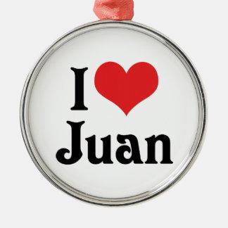 Amo a Juan Adorno Navideño Redondo De Metal
